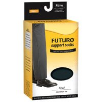 Futuro Support Socks Men's Dress Socks, Black, Medium, Firm, 1-Pair Boxes (Pack of 2)