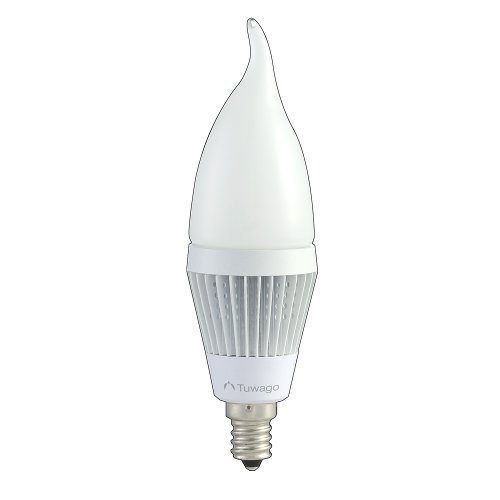 Tuwago C1-3D180F 3.8-Watt (25-Watt) Candelabra Led Bulb, Frosted - Single