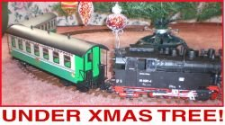 North Pole & Polar Lights Express Christmas Train Set Harzlich Willkommen