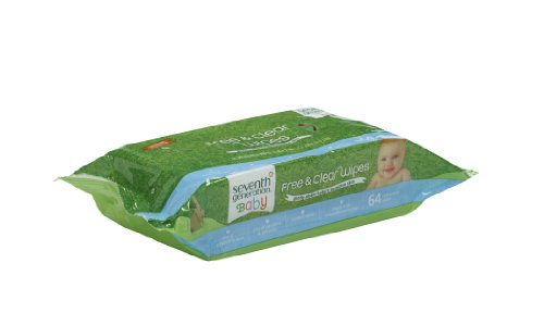 Seventh Generation Free and Clear Baby Wipes Refill Pack, 384 Count
