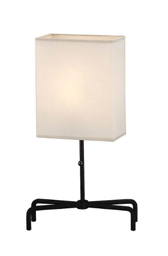 Lite Source LS-3447 Silhouette Table Lamp, Rectangular Shade