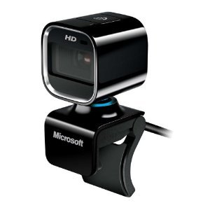 Microsoft LifeCam HD-6000 720p HD Webcam for Notebooks (Black)