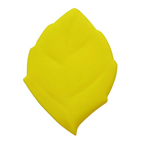 Baiyu Portable Maple Leaf Shape Cup Silicone Camping Drinking Wash Gargle Travel Pocket Cup Folding Bathroom Tumblers Toothbrush Holder / Cover / Cap for Outdoor Activities Hiking Home (Yellow)