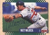 Matt Walbeck Minnesota Twins 1995 Score Autographed Hand Signed Trading Card - Rookie... by Hall+of+Fame+Memorabilia