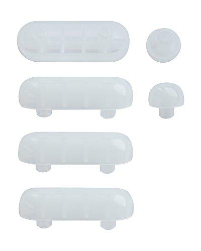 WC-Sitz-Puffer Nr. 23 | Auflagestopfen für Toilettensitz | Abstandhalter für WC-Brille | Dämpfer | Weiß | Kunststoff