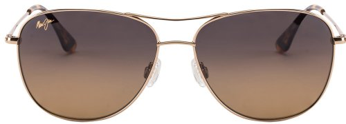 Maui Jim Maui Jim Rectangular Sunglasses (Golden) (Cliff House HS247-16) (Yellow)