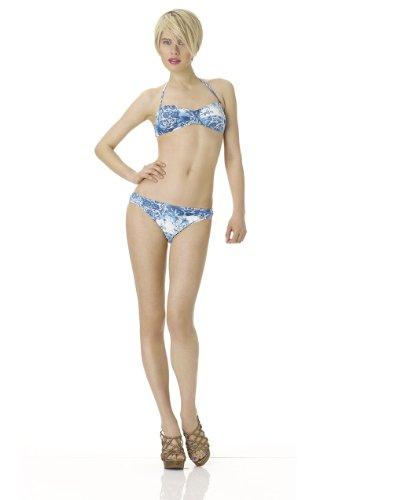 Printed Ruching & Crisscross Details Bikini