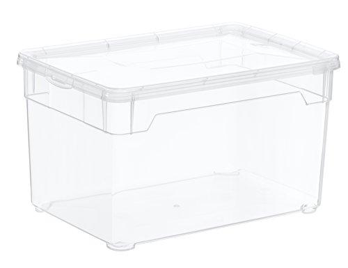 Aufbewahrungsbox-Clear-Box-Multimedia-5-L-von-Sundis-mit-Deckel-QR-Code-AppMyBox-5-L-Volumen-LxBxH-26x175x15-cm-transparent-stapelbar-KunststoffPlastik-PP-Div-Gren