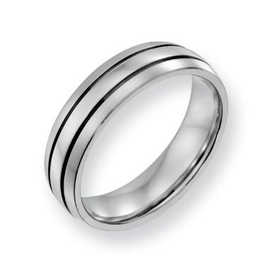 Cobalt Chromium Polish Satin 6mm Band Ring - Size 11 - JewelryWeb