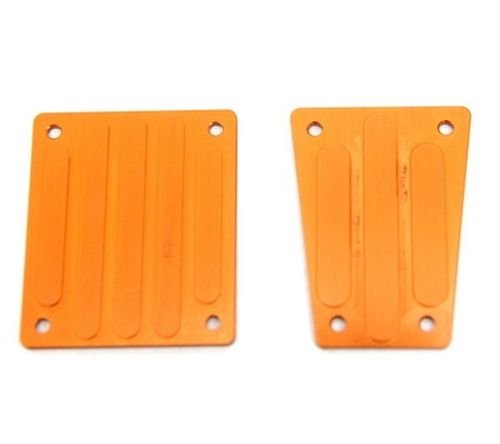 ST Racing Concepts STA30799O Aluminum Front and Rear Skid Plates for The Exo Buggy, Orange