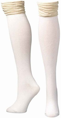 Blazin Roxx Women's Cream With Gold Sparkle Knee-High Socks