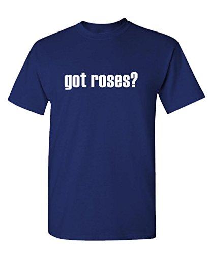 Got Roses? - Mens Cotton T-Shirt, L, Navy