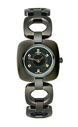 Tissot Odaci-T Black PVD Square Black Dial Women's Watch #T020.109.11.051.00