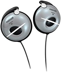 Maxell - EC150 Silver Digital Clip type Headphones for Sports