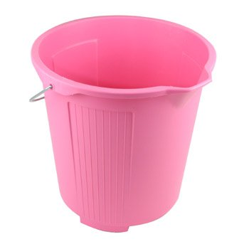 Kent Car Care 10 Litre PINK Plastic Bucket - Capacity ca. 10 Lt (2 gallons Clean Wash - P606