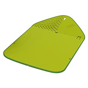 Joseph Joseph Rinse and Chop Plus Cutting Board Green