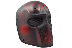 "Airsoft DELUXE Mask ""STEEL LEGION"" (blood metal) from Paintstar®"