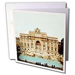 Vacation Spots - Trevi Fountain Italy - Greeting Cards-6 Greeting Cards with envelopes