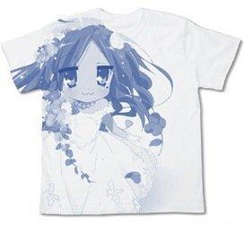 Cospa Lucky Star Konata Wedding Dress T-Shirt White (XL)