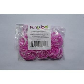 Funloom Purple/White Tie Dye Bands with Super C-clips - 1