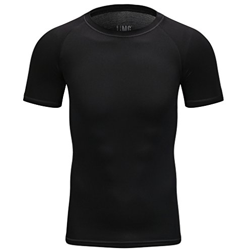 Maoko Sports Fitness Compression Short-Sleeve Tight Shirt Baselayer For Men