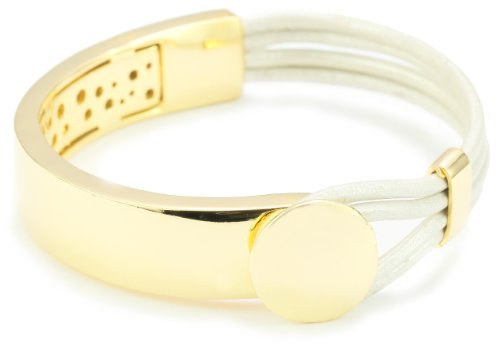 Accessories & Beyond Silver Leather Strand Bracelet