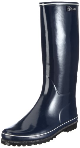 Aigle Women's Venise Navy/White Wellingtons Boots 24512 6.5 UK, 40 EU