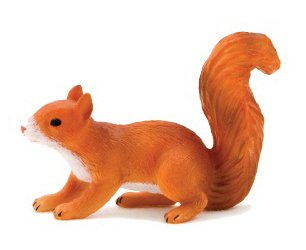 Mojo Fun 387032 Squirrel Running - Realistic Forest / Countrysidel Wildlife Toy Replica