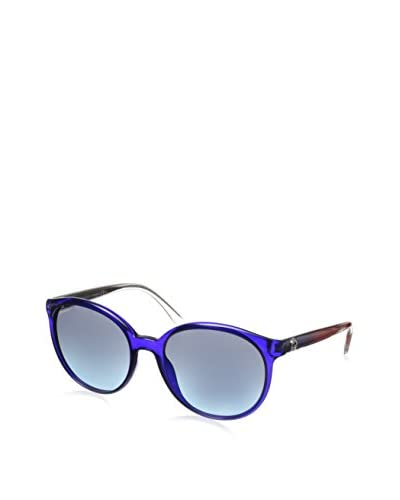 GUCCI Women's GG 3697/S Transparent Blue/Gray Gradient Turquoise Sunglasses