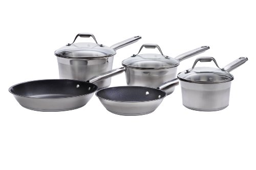 Tefal Volupty 5-Piece Cookware Set, 16 cm/ 18 cm/ 20 cm Saucepan and 20 cm/ 26 cm Frying Pan