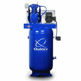 Quincy Max 5-HP 80-Gallon Two-Stage Air Compressor (230V 1-Phase) - 251C80VCBM