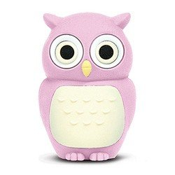 4GB Baby Owl USB 2.0 High Speed Silicon Flash Memory Drive Disk Stick Pen Support Windows and MacOS Great Gift (4GB PINK) by EASYWORLD