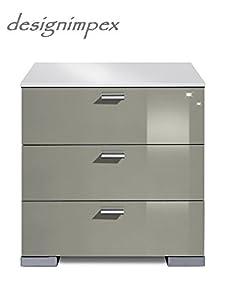 design nachtkonsole nachtkommode boxspringbett boxspring a 2 grau wei hochglanz neu amazon. Black Bedroom Furniture Sets. Home Design Ideas