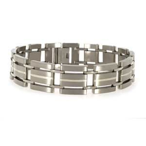 Aircraft Titanium Bracelet with Silver Lining (8 3/4″)