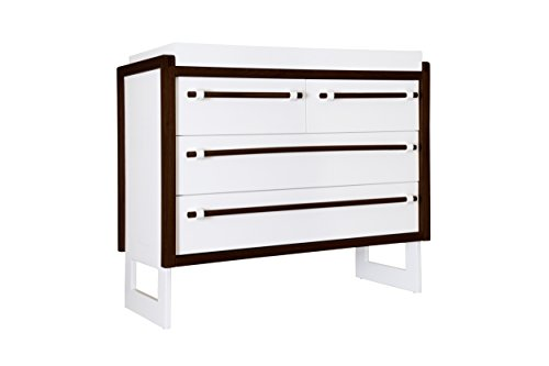 Nursery Works Loom Changing Table, Snow With Dark Frame