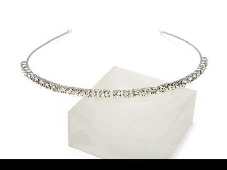 Lj Designs Silver Single Row Tiara (T99)