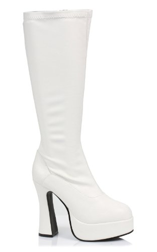CHACHA, 5 Heel Stretch Knee Boots with Inner Zipper by Ellie
