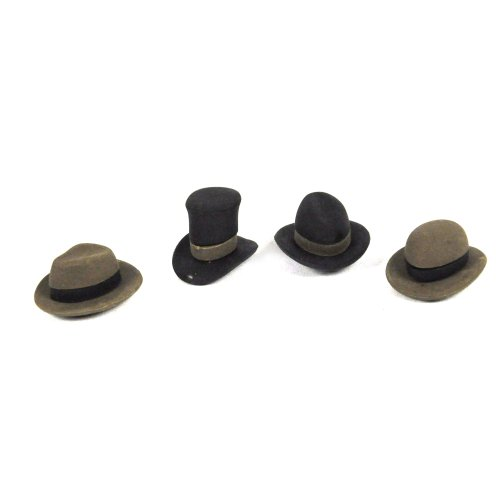 Pencil Eraser Hats,contain four assorted hats