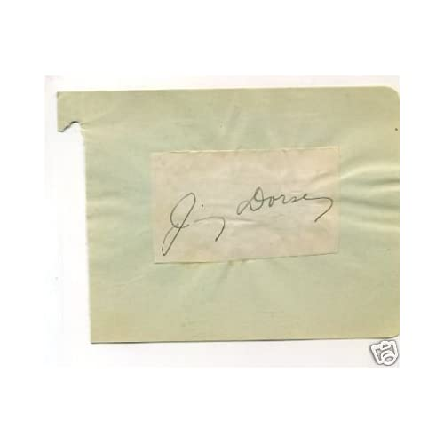 Jimmy Dorsey Jazz Big Band Rare Signed Autograph