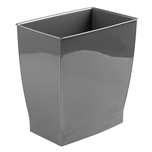 mDesign Wastebasket Trash Can - Rectangular, Slate (Modern Garbage Can compare prices)