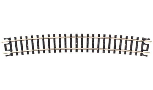 "N Code 80 Nickel Silver 19"" Radius Snap-Track (6) Atlas Trains - 1"