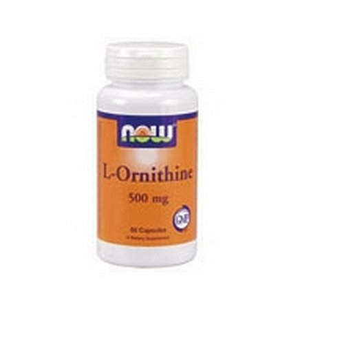 NOW Foods Ornithine, 60 Capsules 500mg / (Pack de