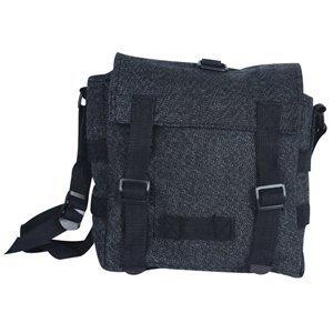Black Salt Pepper Mini German Shoulder/Bread Bag - 8.5 X 8.5 X 3.5, Carry Handle Pack