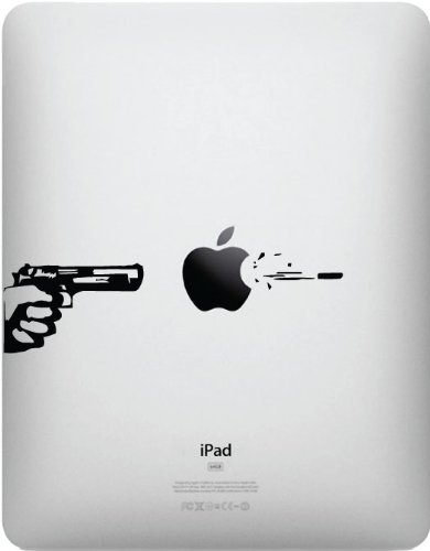 Review Of Apple, Gun, and Bullet for iPad - Vinyl Decal