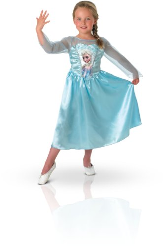 Licensed Girls 3-4 Years Disney Classic Frozen Princess Elsa Snow Queen Costume