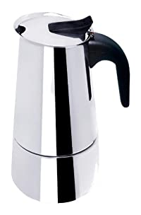 BC Classics BC-40609 6-Cup Espresso Maker with Black Handle