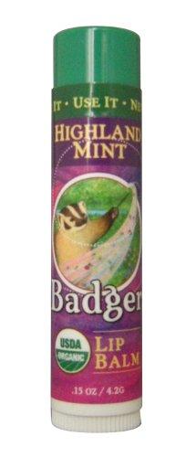 BADGER バジャー バジャー クラシックリップバームスティック ハイランドミント 4.2g