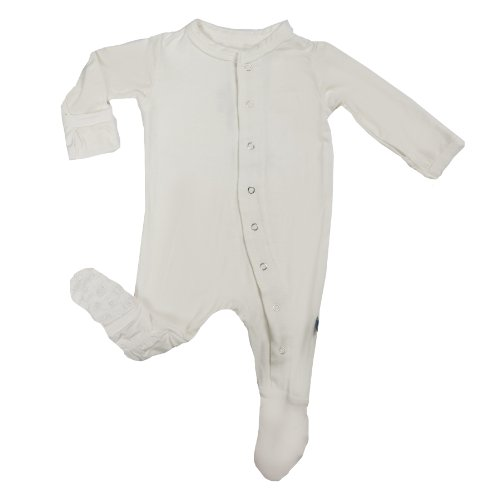 Kickee Pants Footie, Natural, -3 Months front-386494