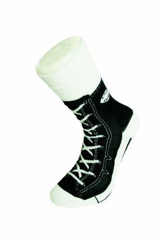 Bluw - Calzino motivo sneaker, colore: Nero