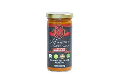 Mariam's Miracle Sauce (Regular), Truly an All Purpose Cooking Sauce & More in 8.5 Oz Glass Jar (Tomato Based) ... (Pasta Sauce Low Sodium compare prices)